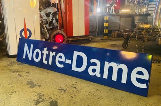 plaque metro parisien