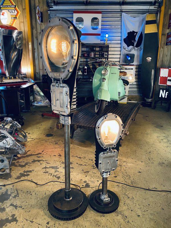 ancien lampadaire industriel