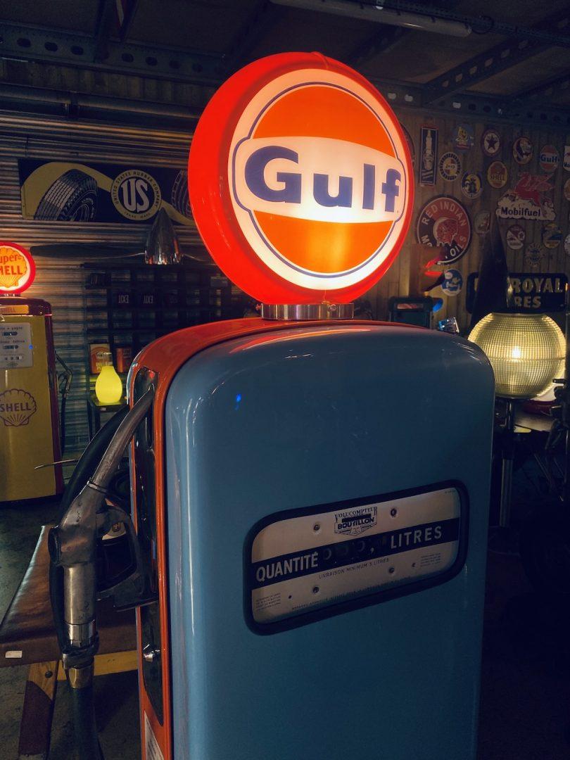 pompe à essence rétro vintage