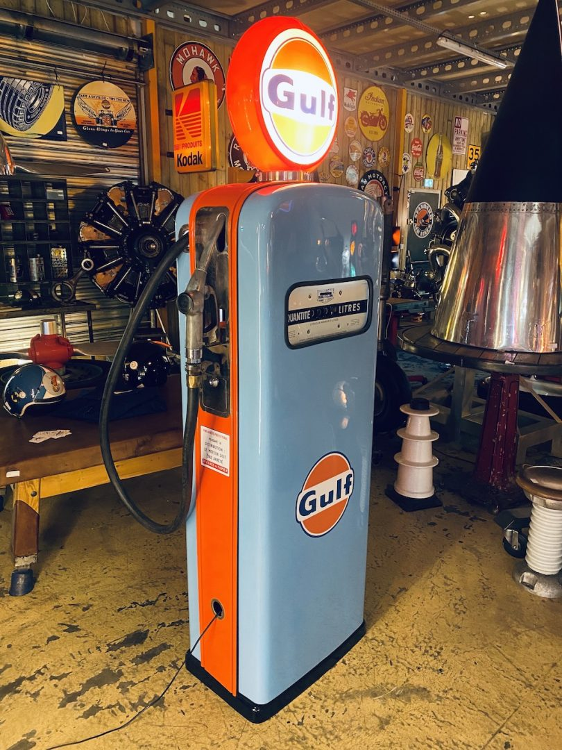 vielle pompe à essence déco